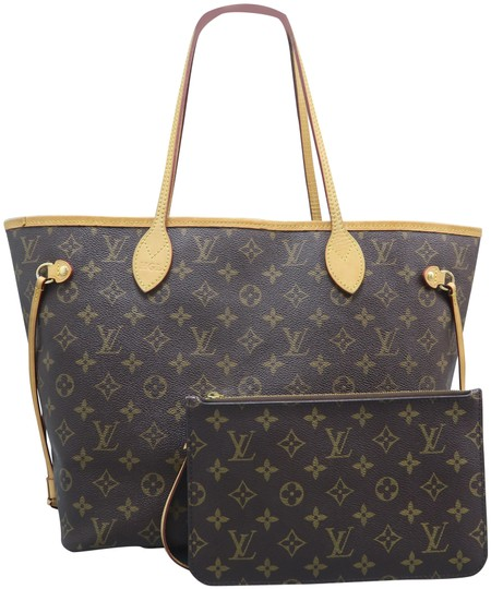 Louis Vuitton Lv Neverfull Mm Canvas Shoulder Bag Image 0