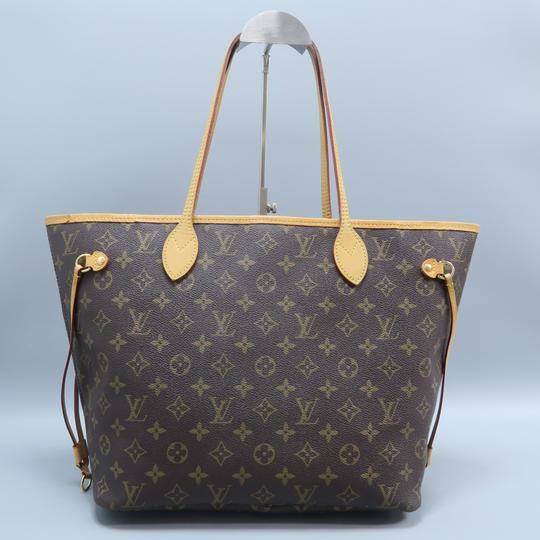 Louis Vuitton Lv Neverfull Mm Canvas Shoulder Bag Image 1