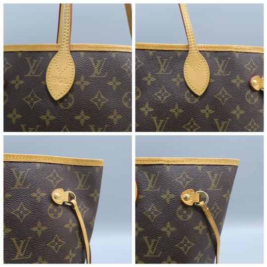 Louis Vuitton Lv Neverfull Mm Canvas Shoulder Bag Image 6