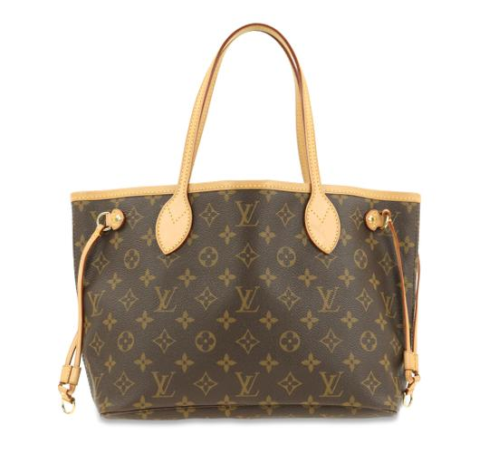 Louis Vuitton Lv Monogram Neverfull Pm Tote in Brown Image 0