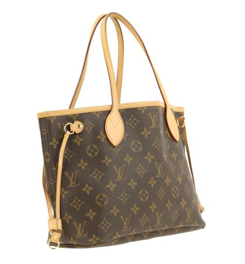Louis Vuitton Lv Monogram Neverfull Pm Tote in Brown Image 1