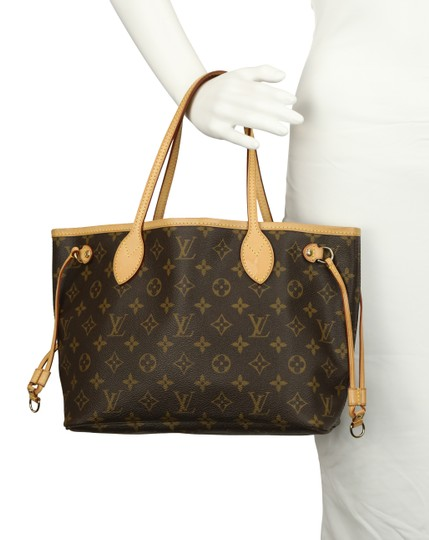 Louis Vuitton Lv Monogram Neverfull Pm Tote in Brown Image 11