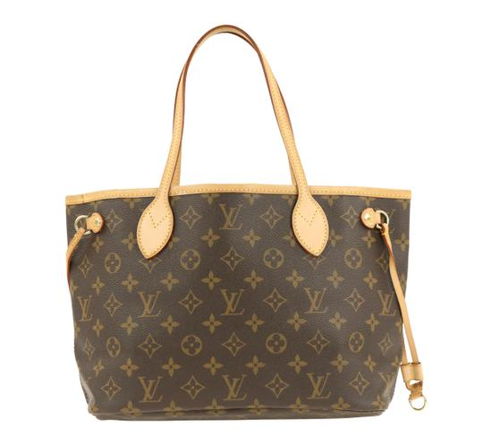 Louis Vuitton Lv Monogram Neverfull Pm Tote in Brown Image 2