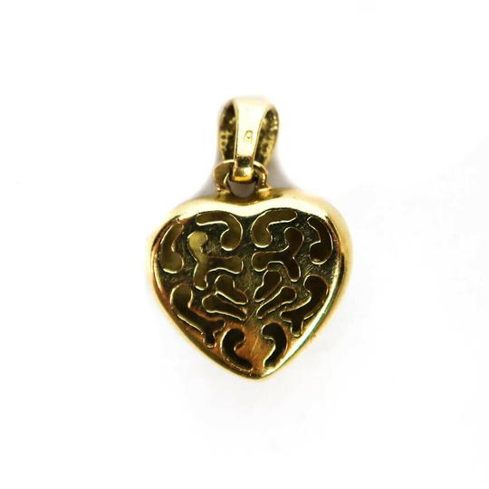 Fine Jewelry Diamond Heart Charm 18K Gold Blue Green Pendant for a Necklace Image 4