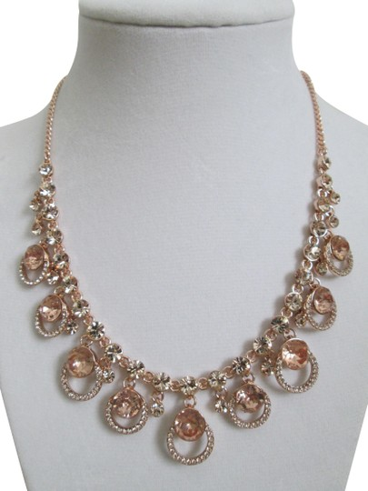 Preload https://img-static.tradesy.com/item/25433907/givenchy-rose-gold-pink-swarovski-crystal-cluster-drop-charm-collar-necklace-0-1-540-540.jpg