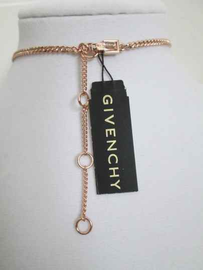 Givenchy Pink Swarovski Crystal Cluster Drop Charm Rose Gold Collar Necklace Image 1