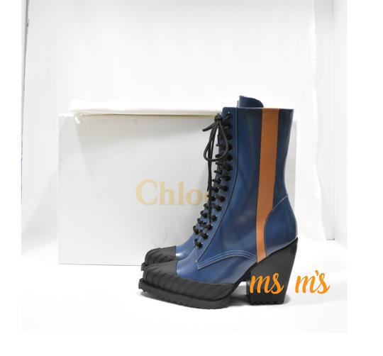 Chloé Blue Brown Boots Image 2