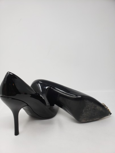 Louis Vuitton Gold Hardware Oh Really Lv Silver Hardware Studded Black Pumps Image 11