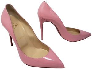 Christian Louboutin Pigalle Pigalle Plato Patent Leather So Kate Pointed Toe Pink Pumps