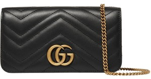 Gucci Marmont Double G Marmont Quilted Mini Chain Chain Shoulder Bag