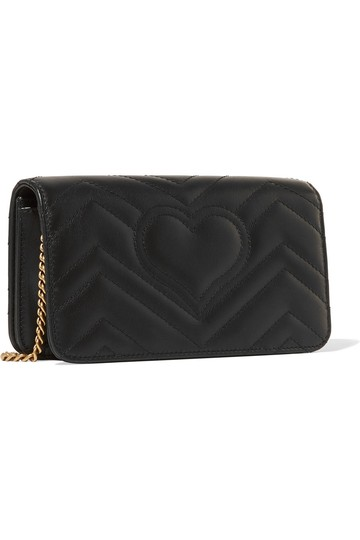 Gucci Marmont Double G Marmont Quilted Mini Chain Chain Shoulder Bag Image 1