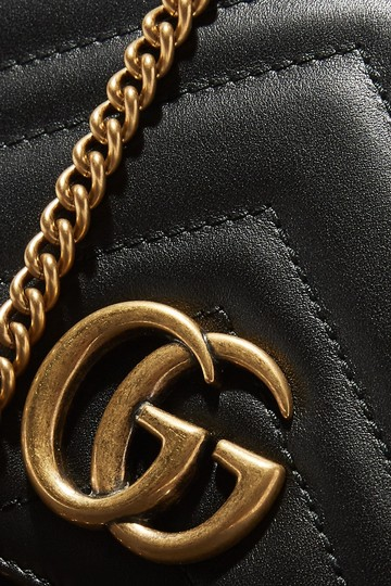 Gucci Marmont Double G Marmont Quilted Mini Chain Chain Shoulder Bag Image 3