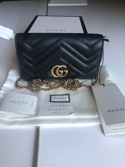 Gucci Marmont Double G Marmont Quilted Mini Chain Chain Shoulder Bag Image 6
