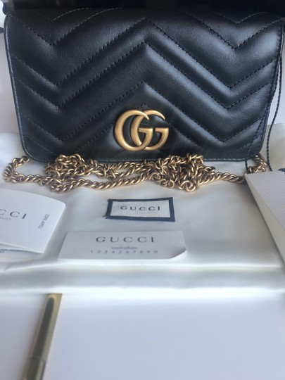 Gucci Marmont Double G Marmont Quilted Mini Chain Chain Shoulder Bag Image 7
