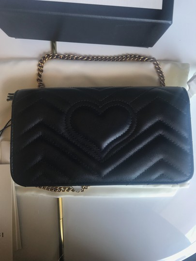 Gucci Marmont Double G Marmont Quilted Mini Chain Chain Shoulder Bag Image 9