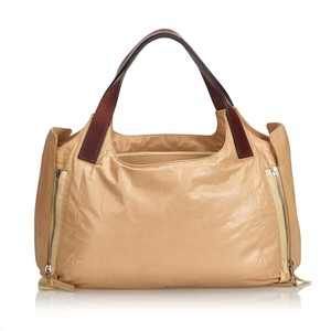 Céline 9eceto003 Vintage Leather Tote in Brown