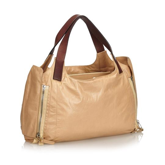 Céline 9eceto003 Vintage Leather Tote in Brown Image 1