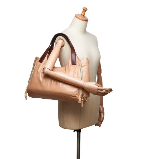 Céline 9eceto003 Vintage Leather Tote in Brown Image 11