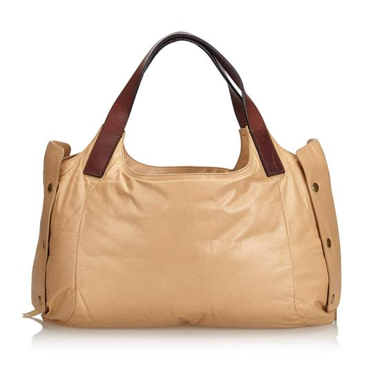 Céline 9eceto003 Vintage Leather Tote in Brown Image 2