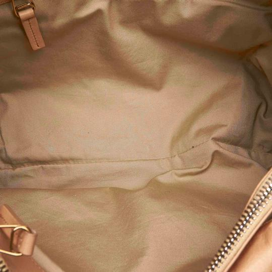 Céline 9eceto003 Vintage Leather Tote in Brown Image 4