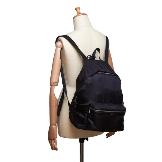 Saint Laurent 9eysbp001 Vintage Ysl Nylon Backpack Image 8