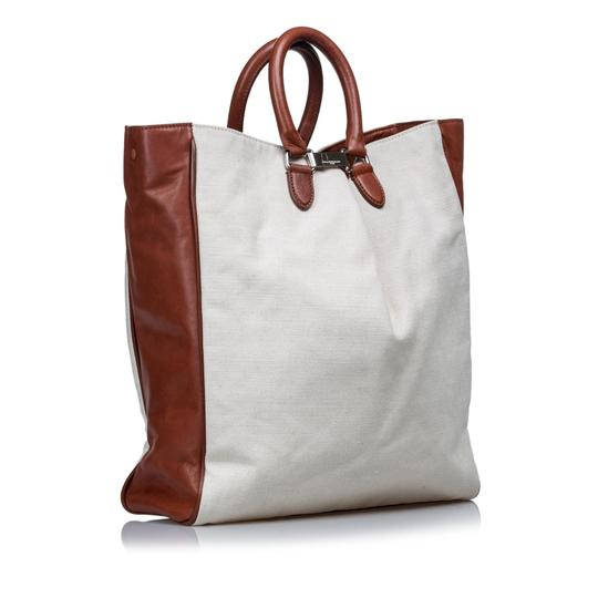 Margiela 9dmlto001 Vintage Canvas Leather Tote in White Image 1
