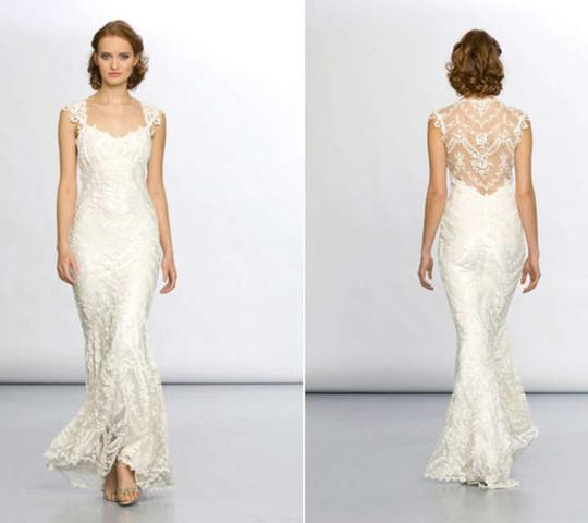 Claire Pettibone Ivory Lace Chantilly Wedding Dress Size 0 (XS)