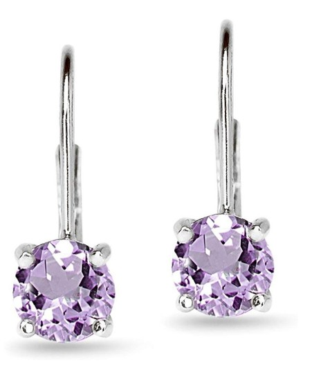 Other AMETHYST ROUND LEVERBACK EARRINGS Image 1