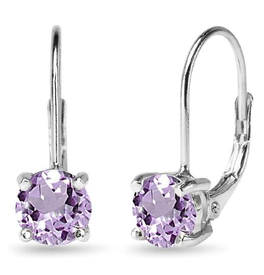 Other AMETHYST ROUND LEVERBACK EARRINGS Image 6