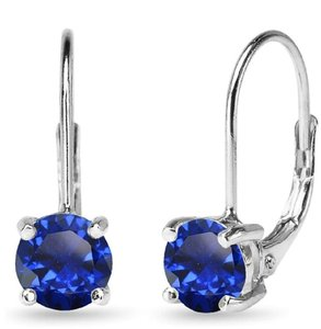 Other BLUE SAPPHIRE ROUND LEVERBACK EARRINGS