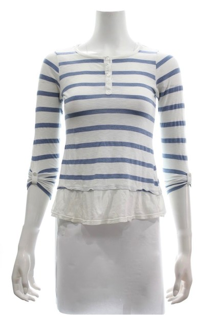 Preload https://img-static.tradesy.com/item/25434249/splendid-white-and-blue-girls-34-sleeve-tee-shirt-size-8-m-0-0-650-650.jpg