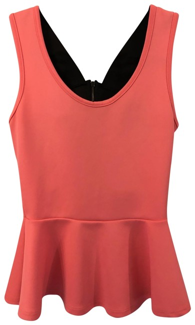 Preload https://img-static.tradesy.com/item/25434298/charlotte-russe-coral-and-black-cross-peplum-sm-tank-topcami-size-4-s-0-1-650-650.jpg