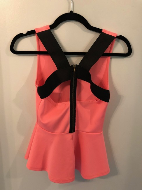 Charlotte Russe Peplum Top Coral and Black Image 1