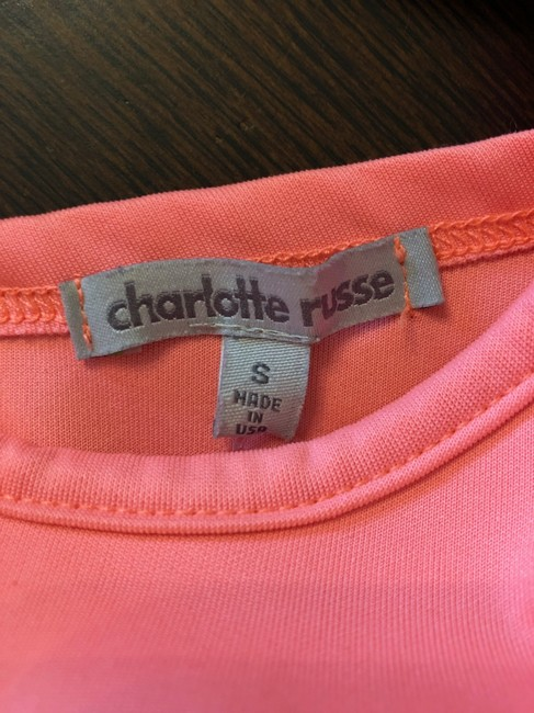 Charlotte Russe Peplum Top Coral and Black Image 2