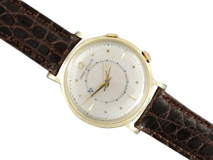 Jaeger-LeCoultre Jaeger-LeCoultre Memovox Mens Alarm Reveil Watch - Solid 14K Gold & SS