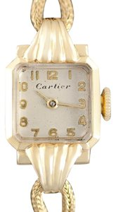 Cartier 1940's Cartier Vintage Classic Ladies Handwound Watch - 14K Gold