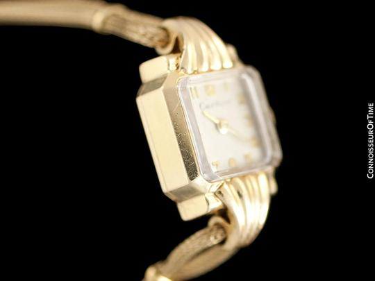 Cartier 1940's Cartier Vintage Classic Ladies Handwound Watch - 14K Gold Image 4