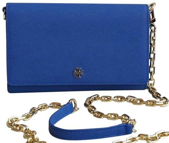 Tory Burch Crossbody Wallet Clutch Summer Tote in blue Image 1