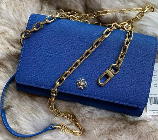 Tory Burch Crossbody Wallet Clutch Summer Tote in blue Image 2