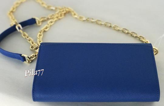 Tory Burch Crossbody Wallet Clutch Summer Tote in blue Image 6