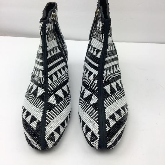 Alice + Olivia Black and White Boots Image 1