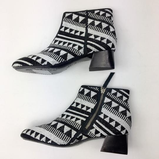 Alice + Olivia Black and White Boots Image 5