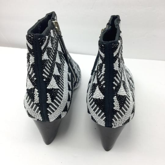 Alice + Olivia Black and White Boots Image 8