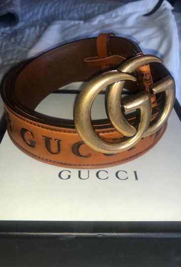 Gucci Gucci Double G Brown Palm Loved Belt Image 7