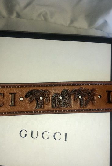 Gucci Gucci Double G Brown Palm Loved Belt Image 9