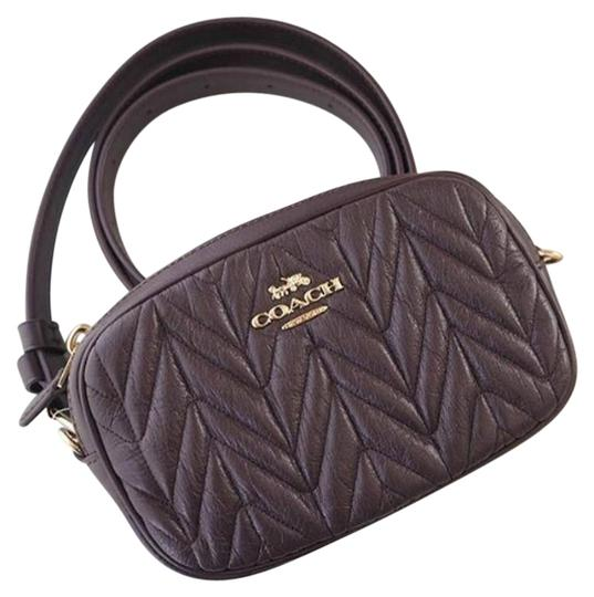 Preload https://img-static.tradesy.com/item/25434471/coach-oxblood-fanny-pack-convertible-belt-bag-with-quilting-f38678-wallet-0-1-540-540.jpg