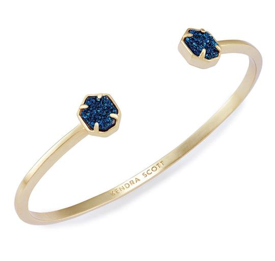 Preload https://img-static.tradesy.com/item/25434599/kendra-scott-goldblue-drusy-teddy-cuff-bracelet-0-2-540-540.jpg