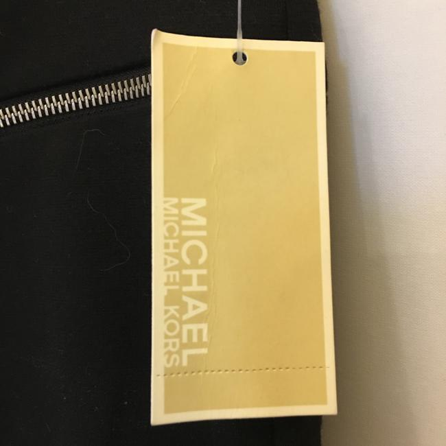Michael Kors Chrome Logo Zippers Size 10 M Medium New With Tags Skirt Black and Grey Image 2
