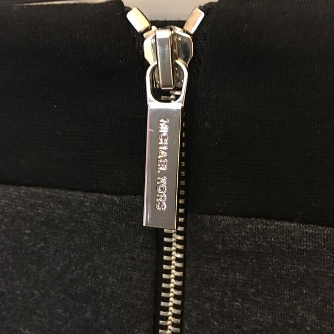 Michael Kors Chrome Logo Zippers Size 10 M Medium New With Tags Skirt Black and Grey Image 5
