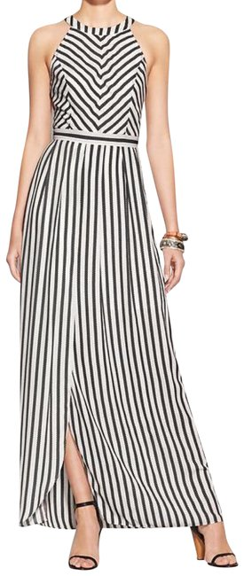 Preload https://img-static.tradesy.com/item/25434628/black-and-white-striped-long-night-out-dress-size-8-m-0-1-650-650.jpg